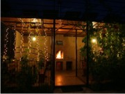 Освещение ночного сада