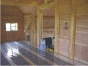 Плёночный тёплый пол в бане