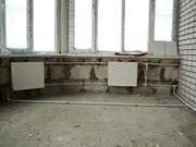 Зимний монтаж системы отопления в новом доме