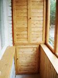 Вагонка в обшивке балкона