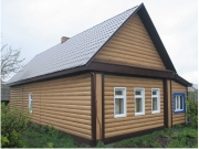 Деревянная обшивка фасада
